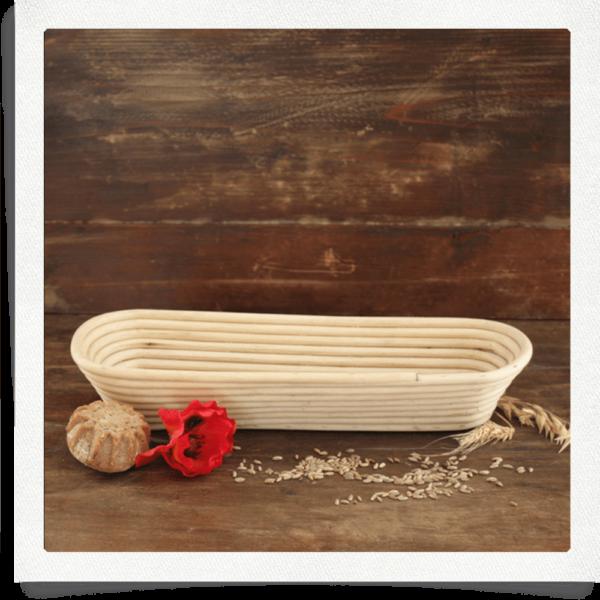 Gärkorb für 1,5 kg Brot länglich