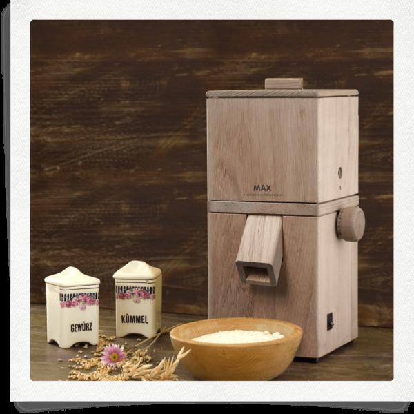 Mulino per cereali MAX SPECIAL rovere senza plastica *